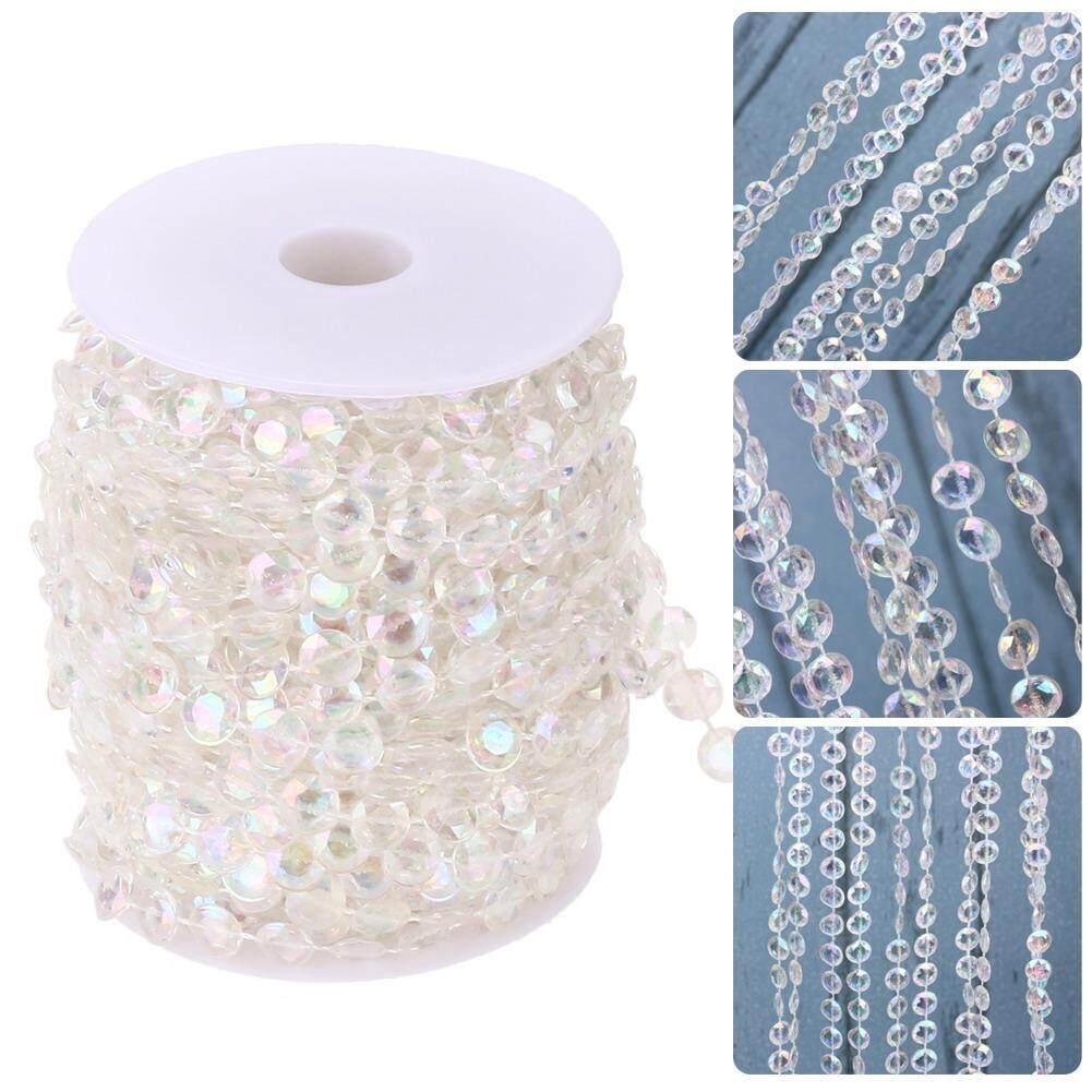 99FT Garland Diamond Acrylic Crystal Bead Curtain Wedding DIY Party Decor - 2 ...