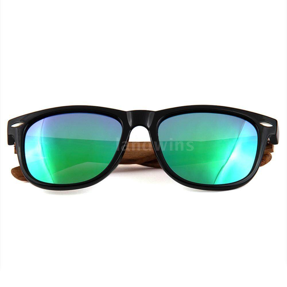 Fashion Wayfarer Natural Wooden Sunglasses with Polarized Lenses for Men and Women - intl