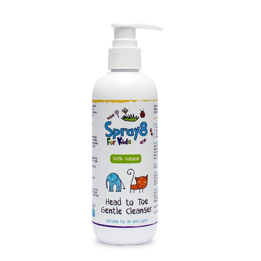 Spray8 For Kids: Head to Toe Gentle Cleanser 250ml