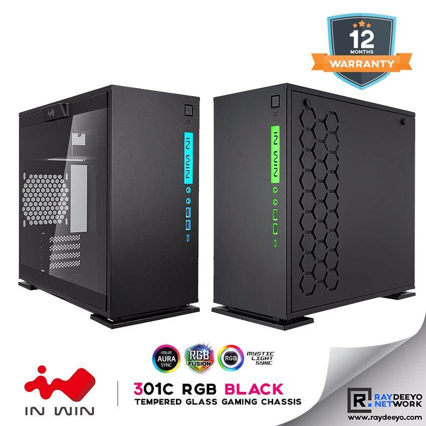 IN WIN 301C RGB (BLACK) Mini Tower Tempered Glass Gaming Chassis [Matx, Mini-ITX] Malaysia