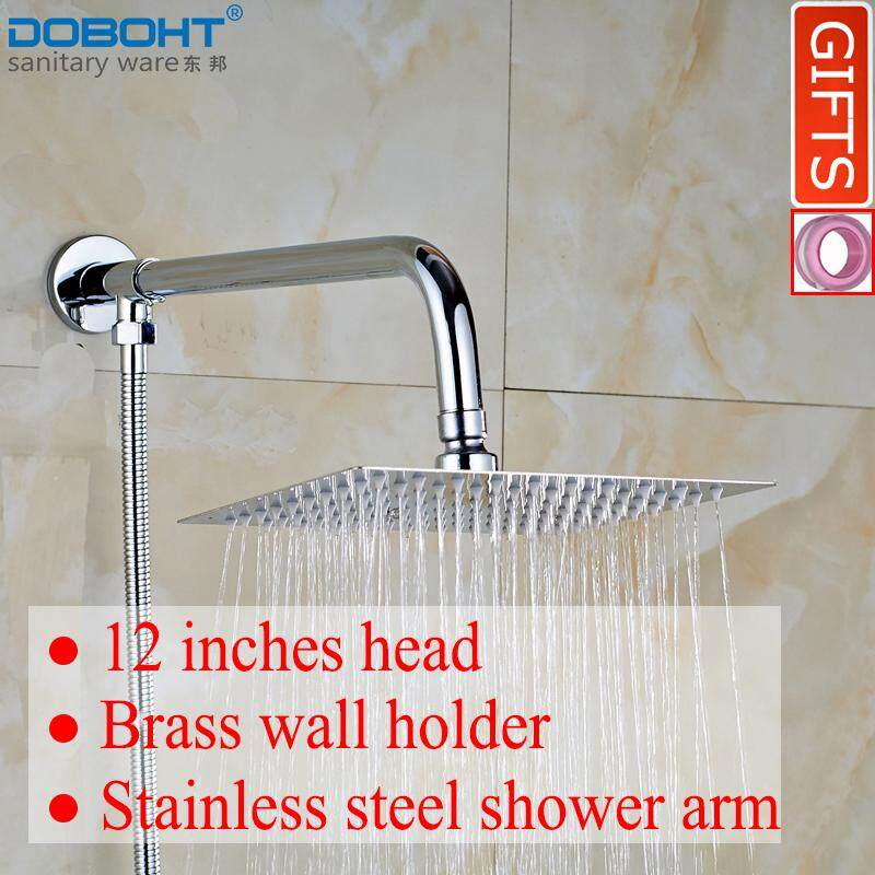 Price Doboht Bathroom Home Chrome Shower Set 12 Inches Stainless Steel Shower Head Shower Arm 1 5M Hose Intl Online China