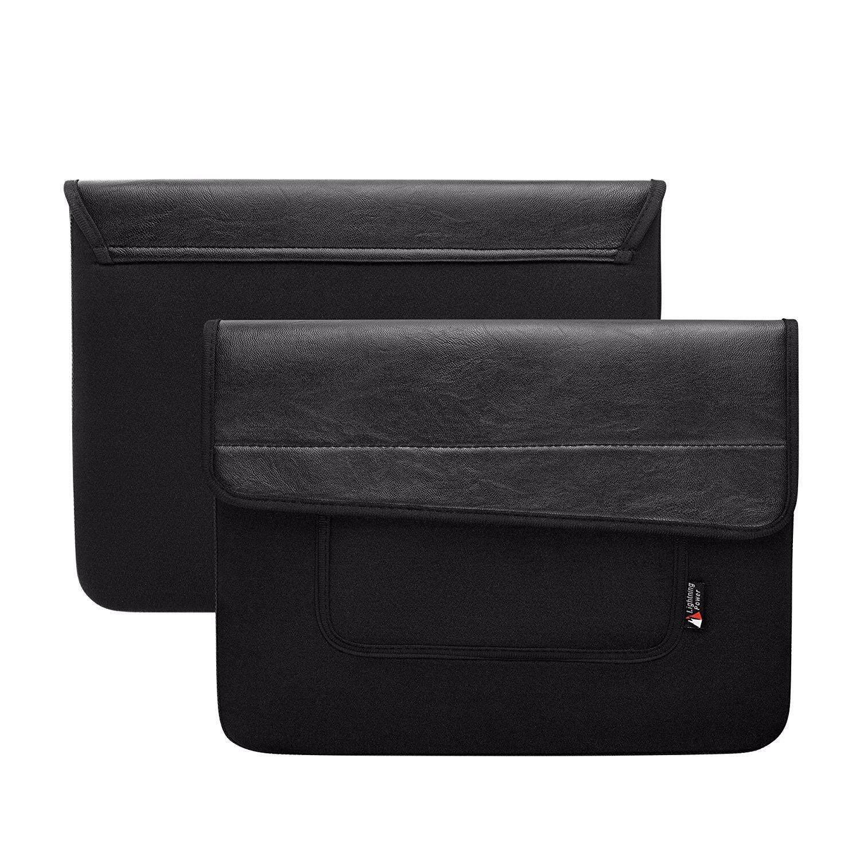 Lightning Daya-2-Saku PU Kulit Neoprene iPad Pro 12.9 Lengan Kasus untuk iPad