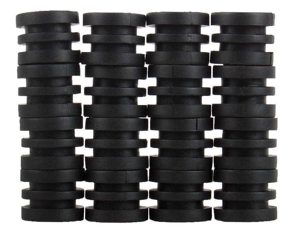 BINLI Anticollision 5/8 Inch Foosball Rods Rubber Bumpers for Foosball Table (Black)