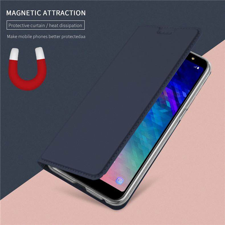 Features Cases For Samsung Galaxy A6 Plus 2018 A6 2018 Leather Flip