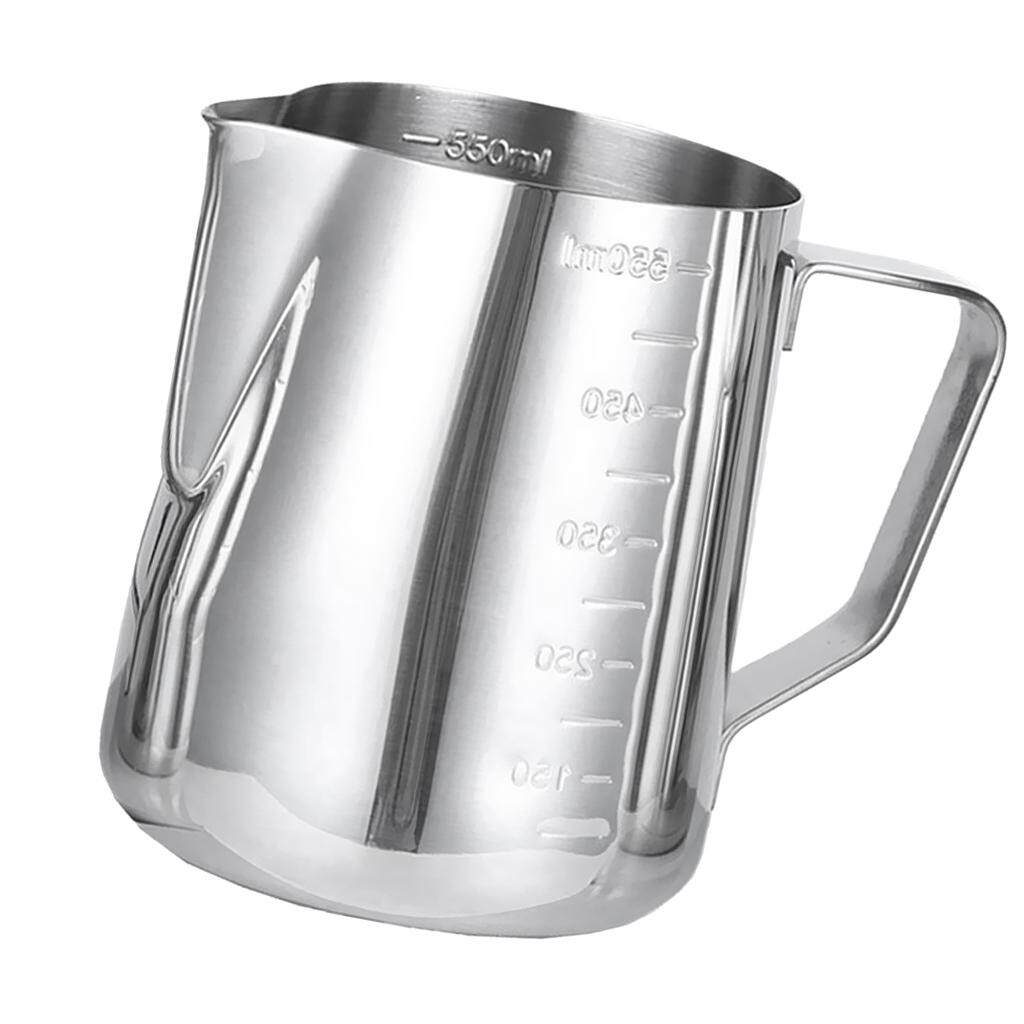 """""""Dolity New 600ml Espresso Coffee Milk Frothing Pitcher, w/ Scale Stainless Steel"""""""