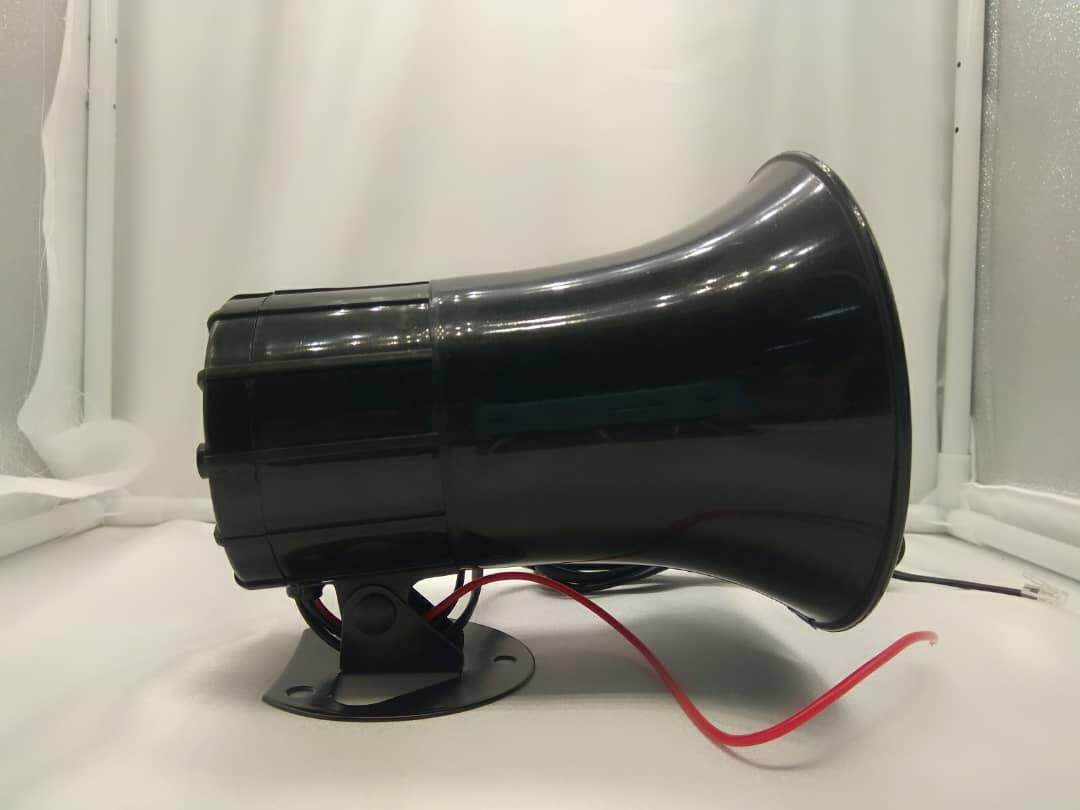 CAR VAN LOUD SIREN SECURITY HORN 12V WITH 7 SOUNDS AND MICROPHONE A CLASS 1302A 1 MONTH WARRANTY