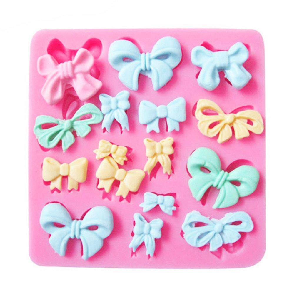 ... GOFT 3D Bowknot DIY Kitchen Baking Silicone Sugar Fondant Cake Decorating Mold pink - 4 ...