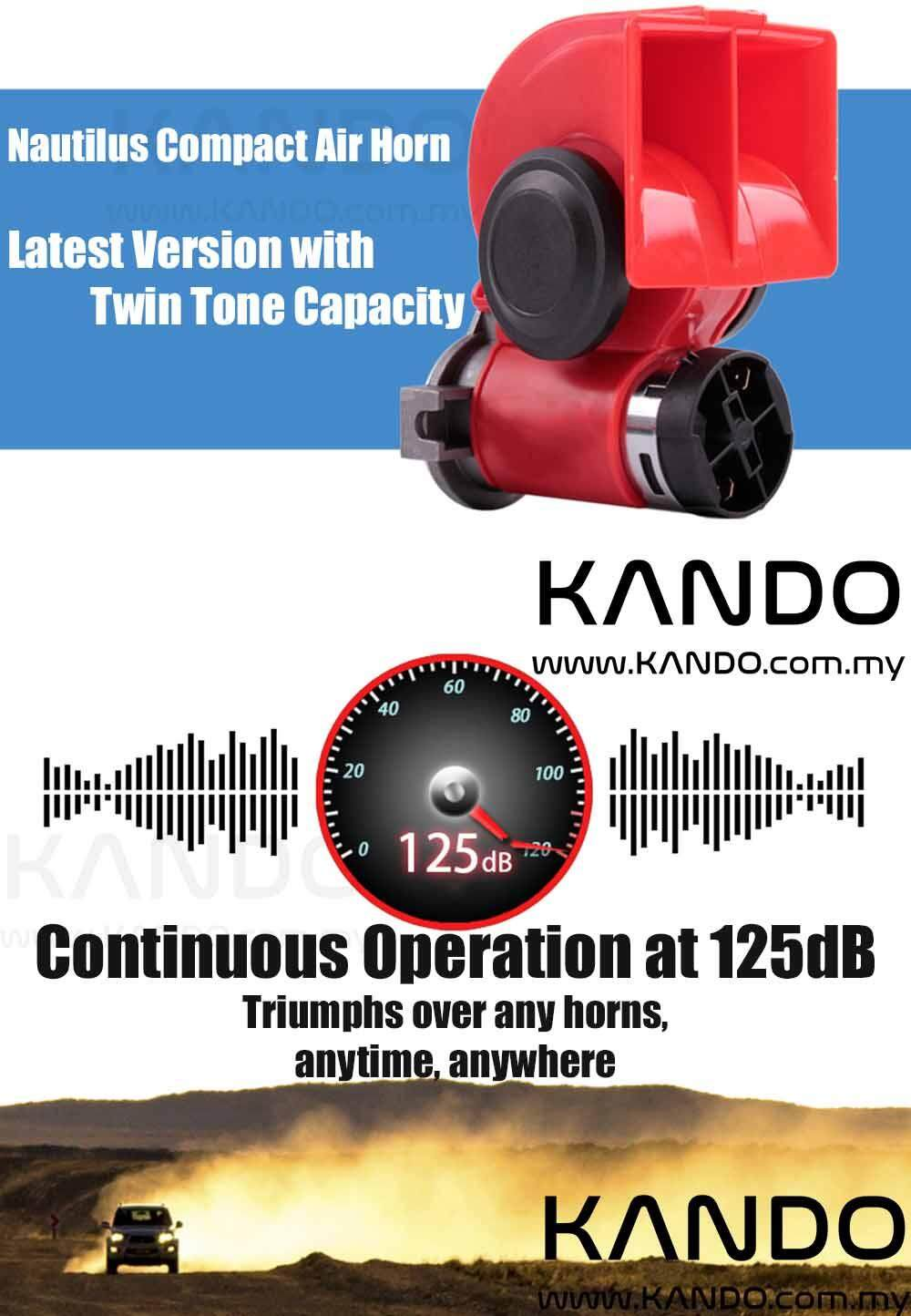 [MALAYSIA]Nautilus Compact 12V Air Horn Twin Tone Horn with Compressor Car Horn Lorry Horn Bike Horn with Pump