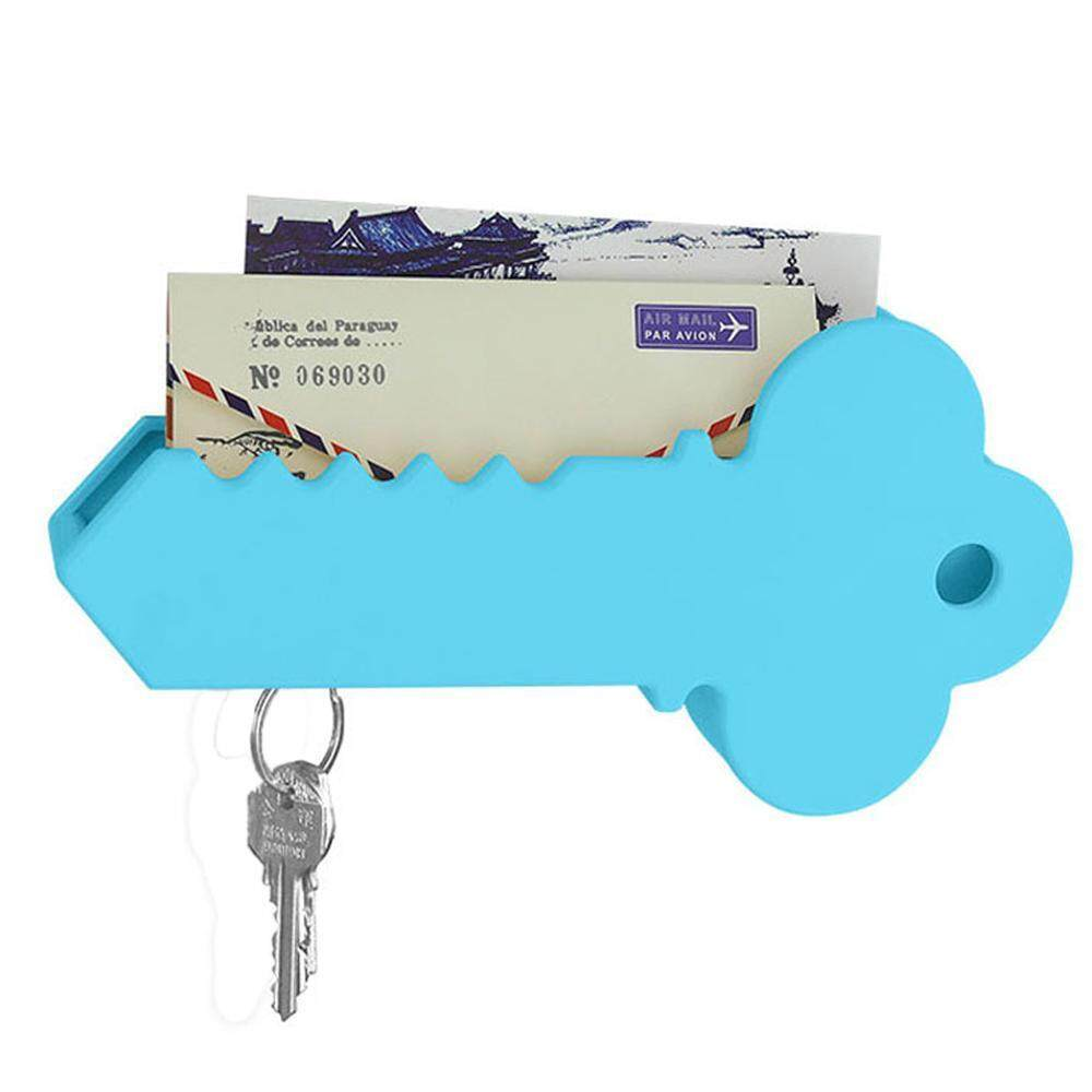 goong BIG Key Shape Magnetic Wall Key Holder Mail Organizer Adhesive-Easy To Mount ,Blue