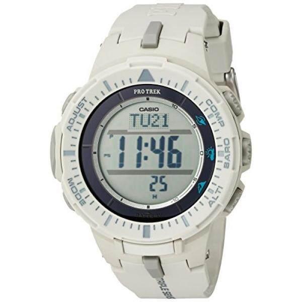 Casio Mens ProTrek Triple Sensor Quartz Resin Watch, Color:White (Model: PRG-300-8CR) - intl