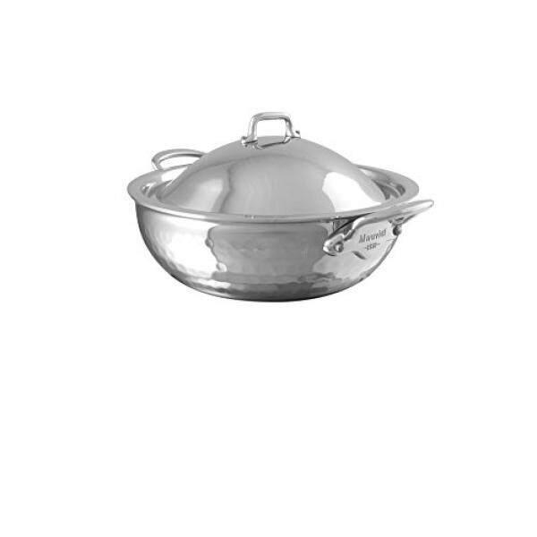 Mauviel 5272.21 Melite Melengkung Yang Dilapisi Saute Pan With Bangkrut, 7.9, Tahan Karat-Internasional