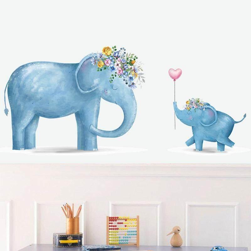 Kartun Nordic Style Hewan Stiker Dinding Kamar Anak Nursery Wall Kamar Wallpaper Dekorasi