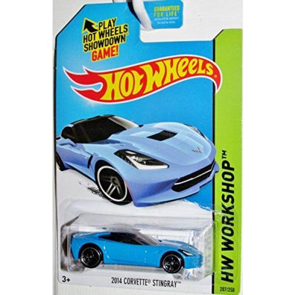 1 X 2014 Hot Wheels Hw Workshop 2014 Corvette Stingray (Blue) - intl