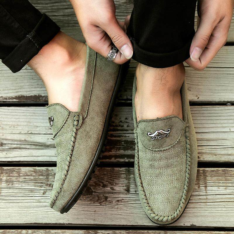 Womi Men Leather Flat Shoes Fashion Soft Moccasins Loafers Mens Boat