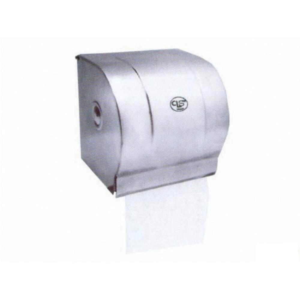 Rivershop Stainless Steel Hand Towel Toilet Tissue Paper Roll Holder (Full Cover) TRH-1700/SS