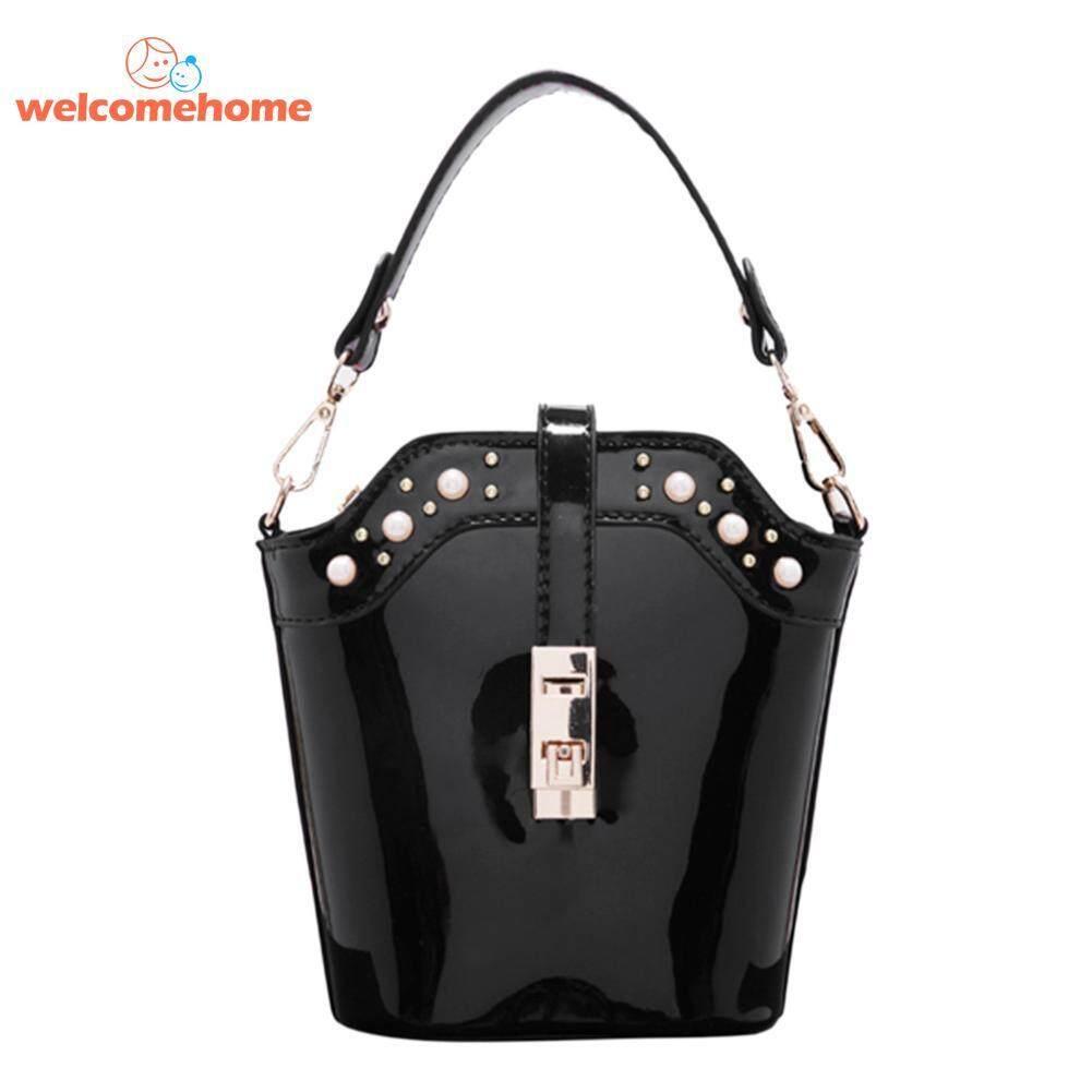 Bright PU Women Chain Messenger Small Handbag Crossbody Shoulder Bucket Bag - intl