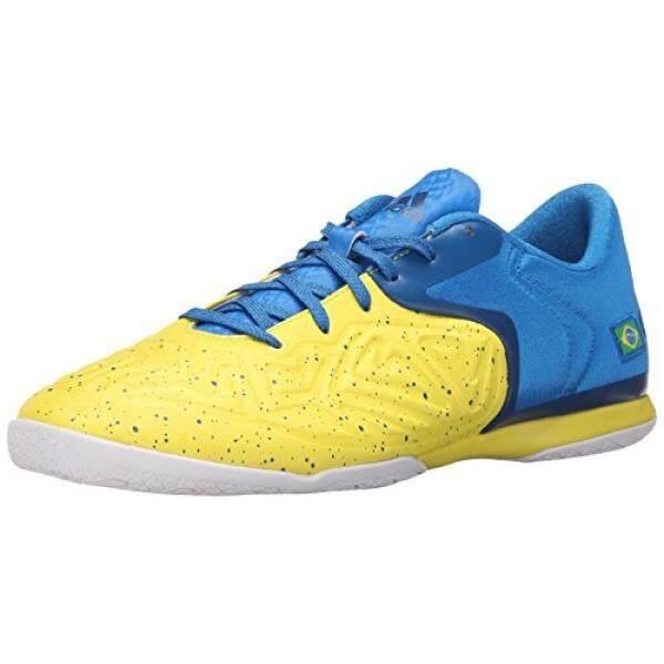 Adidas Performa Pria X 15.2 Ct Sepatu Sepak Bola, Kuning/Guncangan Biru/Peralatan Biru, AS-Internasional