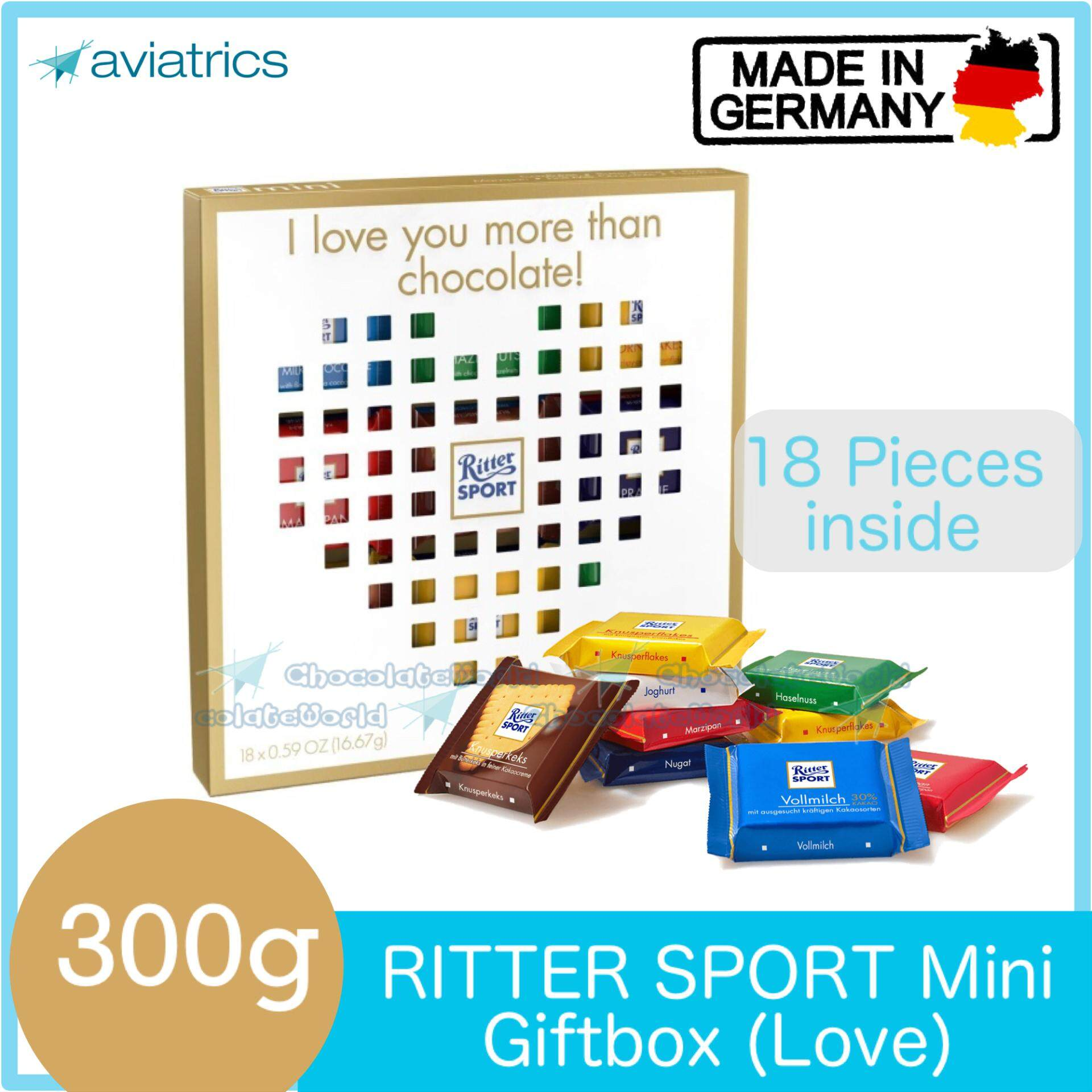 Ritter Sport Mini Mix 18pcs Love Gift Box 300g (Made in Germany)