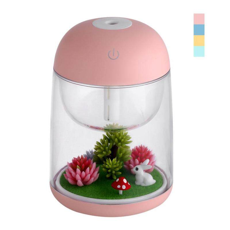 yukufus Micro-landscape Humidifier Essential Oil Diffuser 80ml Aroma Essential Oil Cool Mist Humidifier Baby Night Light Decoration - Random Color Singapore