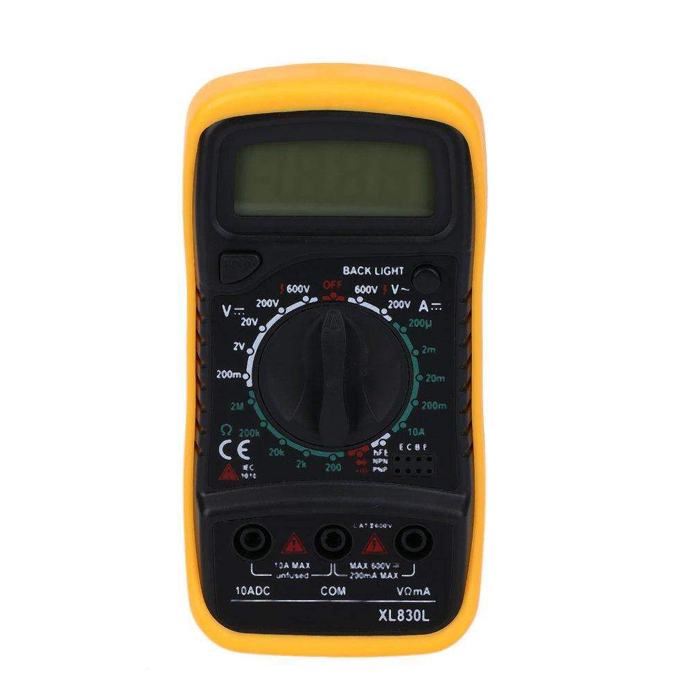 Display Digital Multimeter XL830L Volt Meter Ammeter Ohmmeter Yellow Tester Yellow - intl