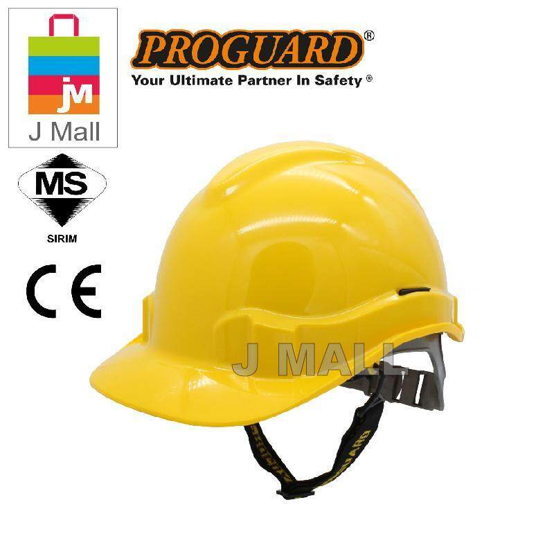 PROGUARD Advantage Industrial Safety Helmet Worker Head Protection - Yellow / White