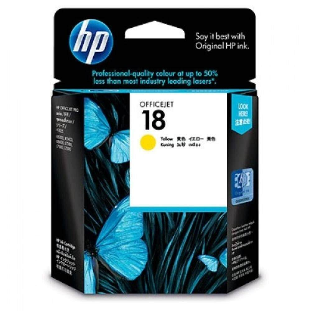 HP 18 Yellow Officejet Ink Cartridge (C4939A)