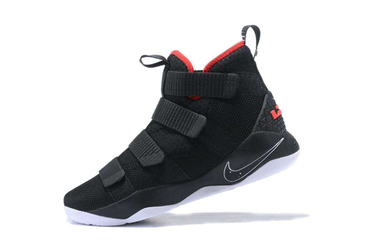 Men's Basketball Shoes Slip Resistant King James LeBron Raymone James Olympic Champions Soldier XI LBJ 11 (Black) - intl