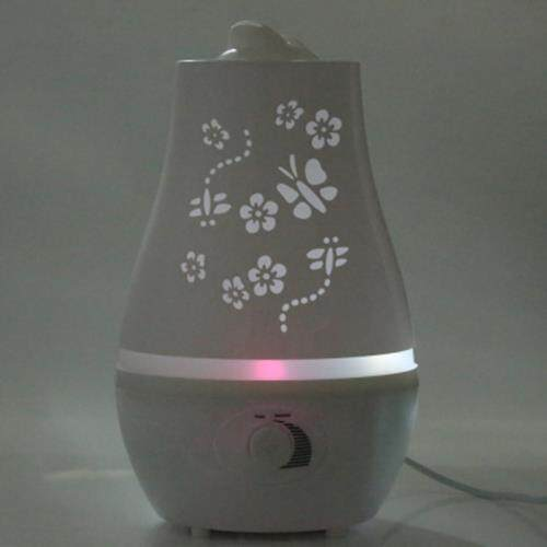 2.4L ULTRASONIC ESSENTIAL OIL DIFFUSER LED LIGHT AIR HUMIDIFIER PURIFIER HOME DECOR (WHITE)