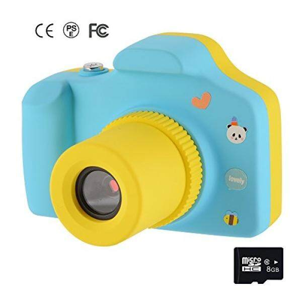 Memoru Mini 1.5 Inci Layar HD Anak Digital Kamera Aksi Camcorder dengan 8 GB Kartu (Biru) untuk Ulang Tahun Lucu/Natal Hadiah-Intl