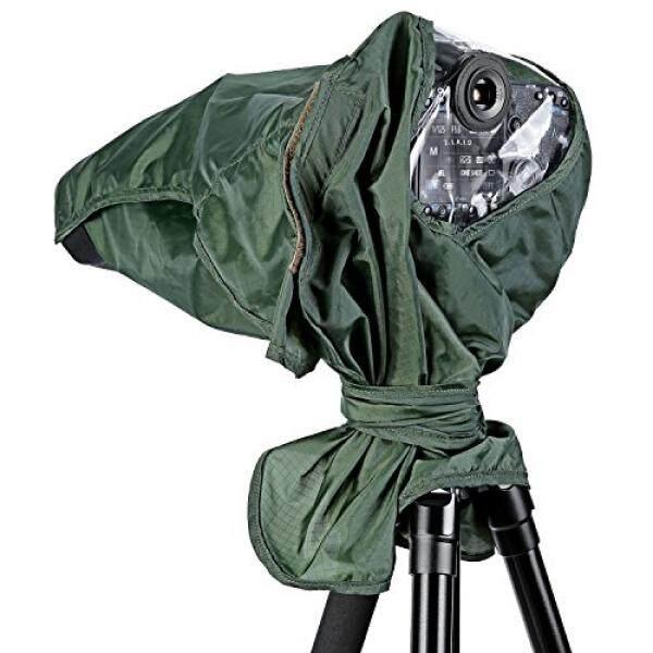 Neewer Pelindung Hujan Yg Tahan Hujan Pelindung Kamera untuk Perkakas Bertualang Pentax Olympus Fuji dan Lensa Hingga 257 Mm Panjang dan 95 Mm Lensa diameter DSLR Kamera (Hijau) -Intl