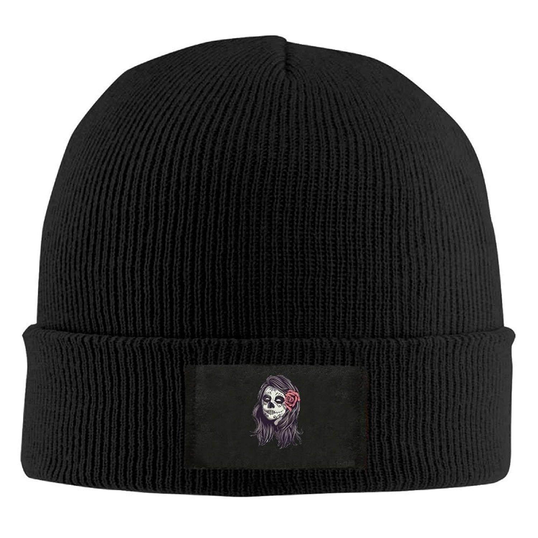 Kecantikan Skeleton.png Rajut Hangat Musim Dingin Topi Wool Baggy Tengkorak Cap-Intl