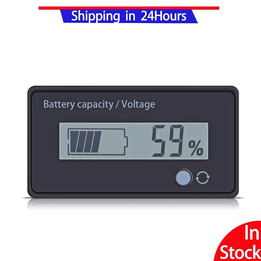 Fitur 12v Lcd Acid Lead Lithium Battery Capacity Indicator Voltage Discharge In Stock12v Fuel Gauge Voltameter Meter Screen With