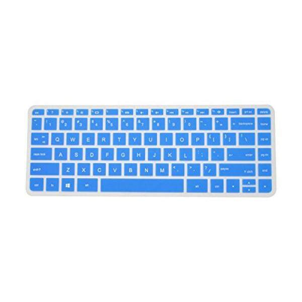 PcProfessional Blue Ultra Thin Silicone Gel Keyboard Cover for HP Pavilion x360 [2015 Model] s099nr s120nr s192nr s199nr with Application Kit (Please Compare Keyboard Layout and Model)