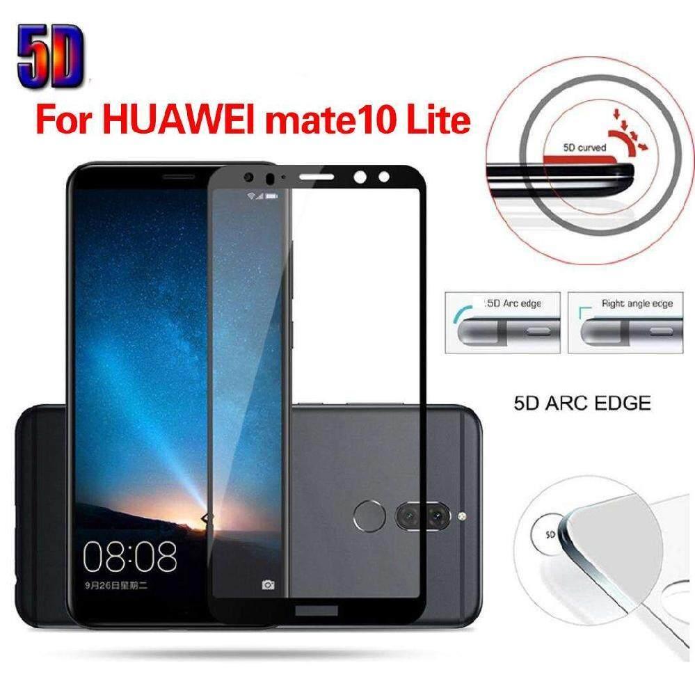 M_home Anti Guncangan 5D Penuh Kaca Melunakkan Film Layar Pelindung untuk HUAWEI Mate 10 Lite Hitam-Internasional
