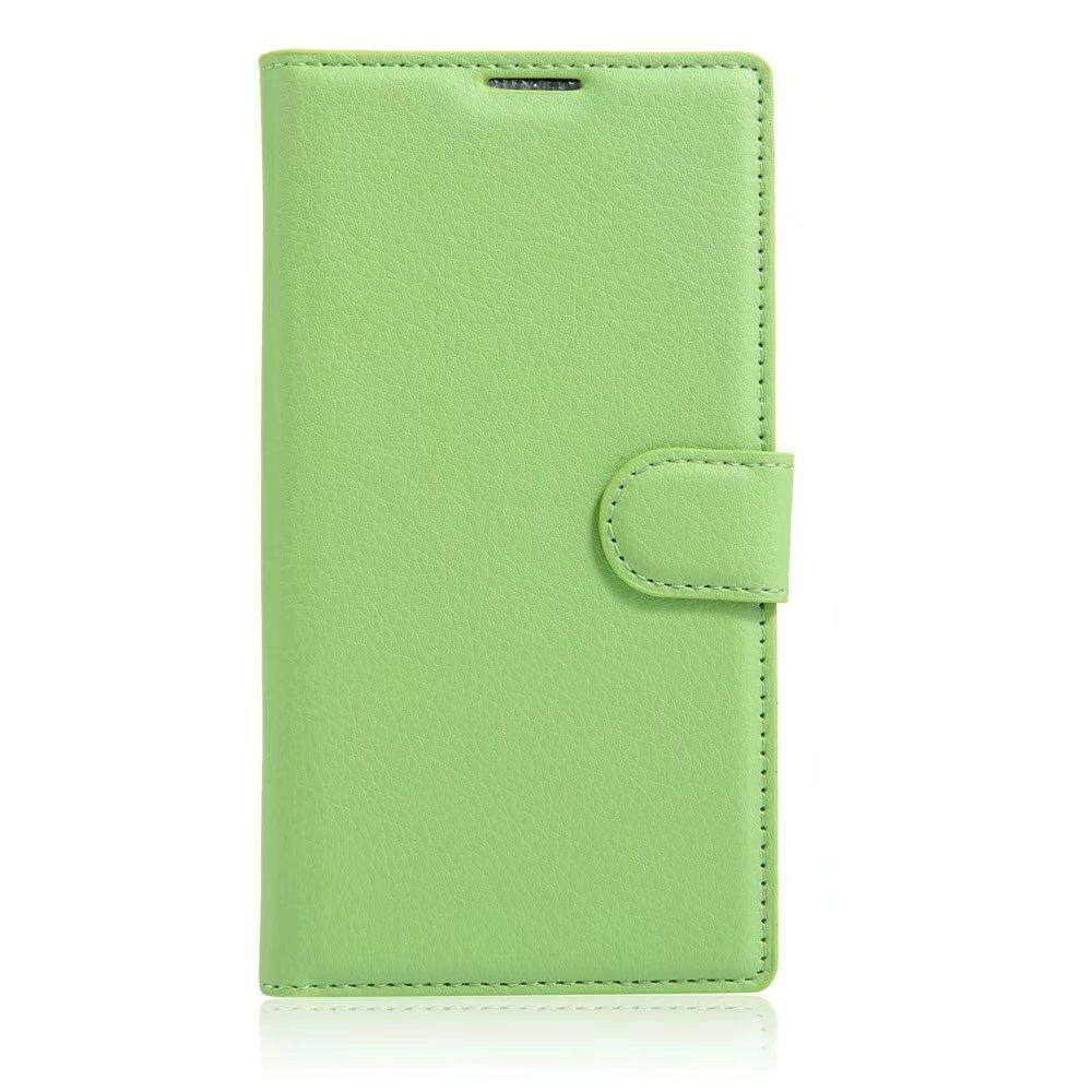 Leather Flip Cover Wallet Card Holder Case For Alcatel POP C9 / OT7047 - intl