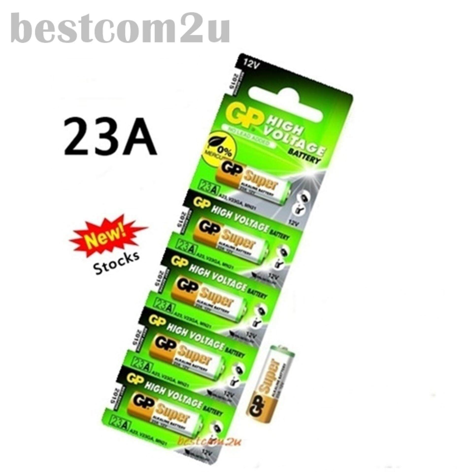 5PCS 23A ORIGINAL GP Alkaline Battery Remote Alarm 12V (Exp 2021) Malaysia
