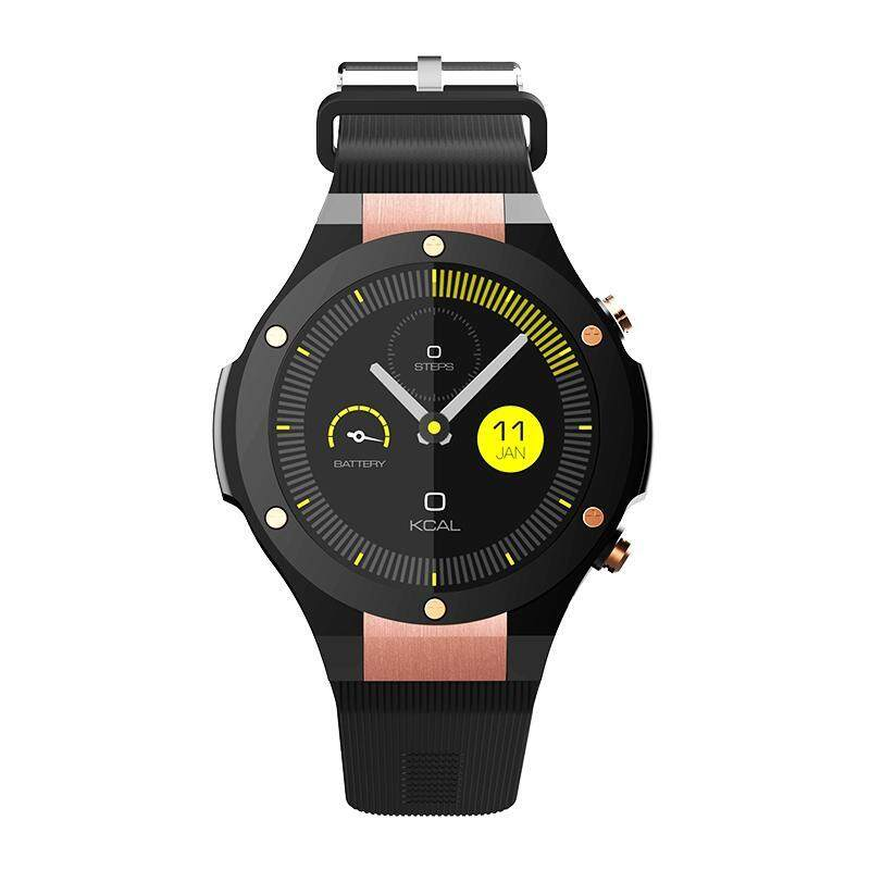 Microwear H2 3G Smartwatch Phone 1.39 inch Android 5.0 MTK6580 1.0GHz Quad Core 16GB ROM 5.0MP Camera Heart Rate Monitor Pedometer GPS Malaysia