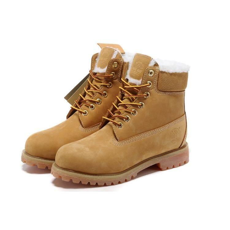 Timberland Men s ICON 6-Inci Boot Premium Tambah Wol Gandum Kuning EU  40- b8a6fba498