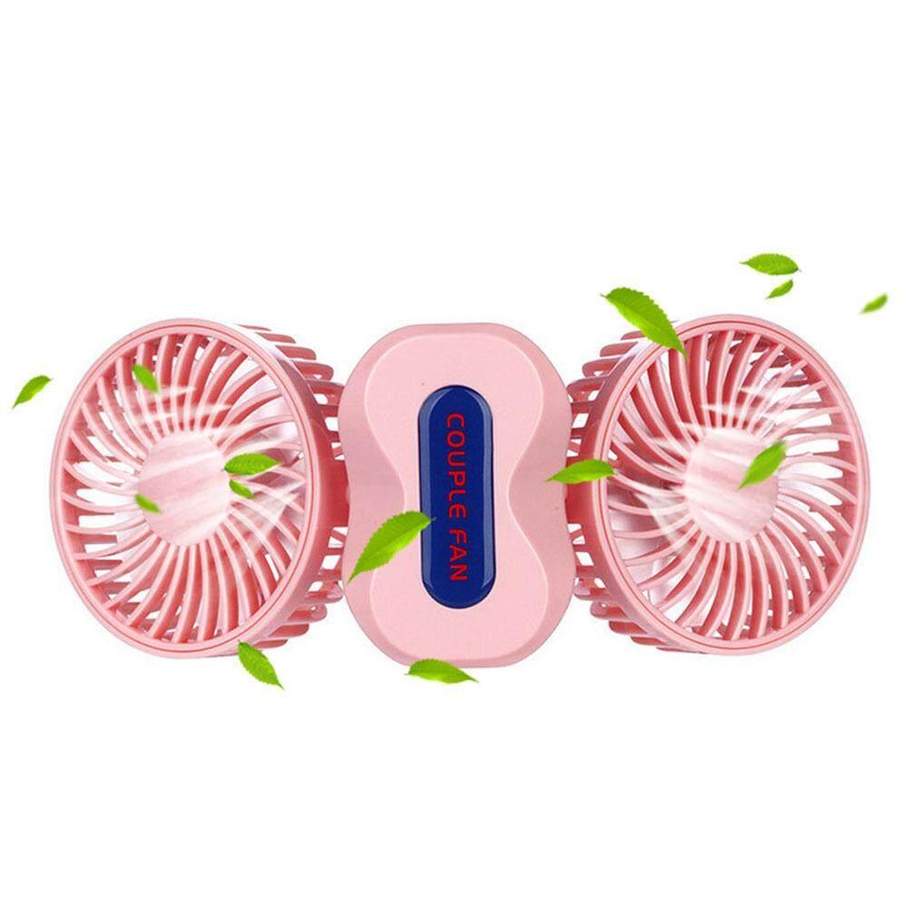 Pawaca Creative Couple Mini Fan USB Charging Fan Dual Motor Folding Belt Night Light USB Cooling Fan - intl