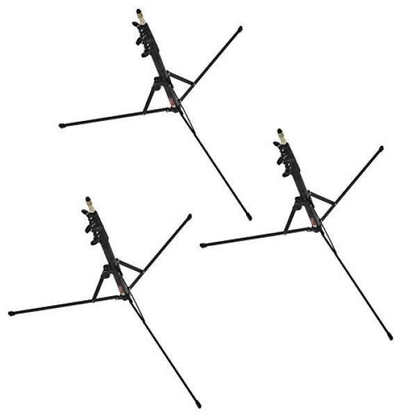 NOMIS Lichtstativ LS-1 - 3er Set - Klappstativ bis ca. 221cm hoch kompaktes Reisestativ Traveler