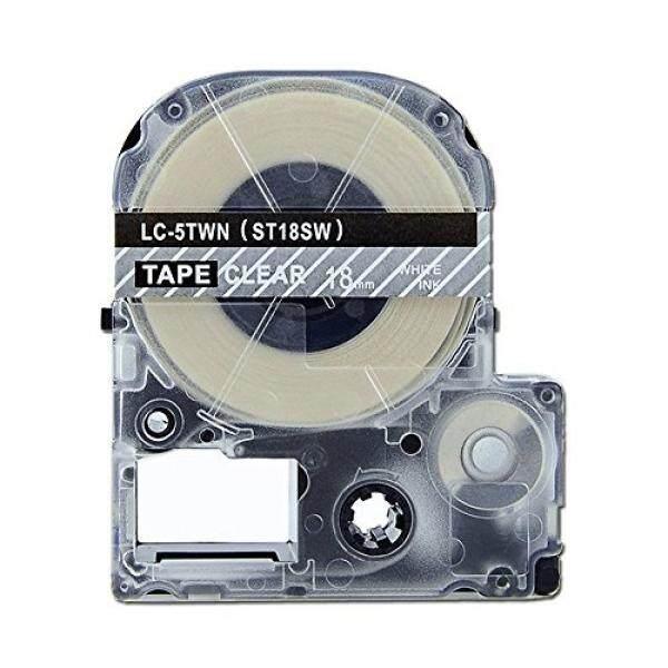 Penggantian Kaset Tape Absonik untuk Epson Labelworks LW-400 LW-500 LW-600P LW-700 LW-900P LW-1000P LC-5TWN9 (3/4