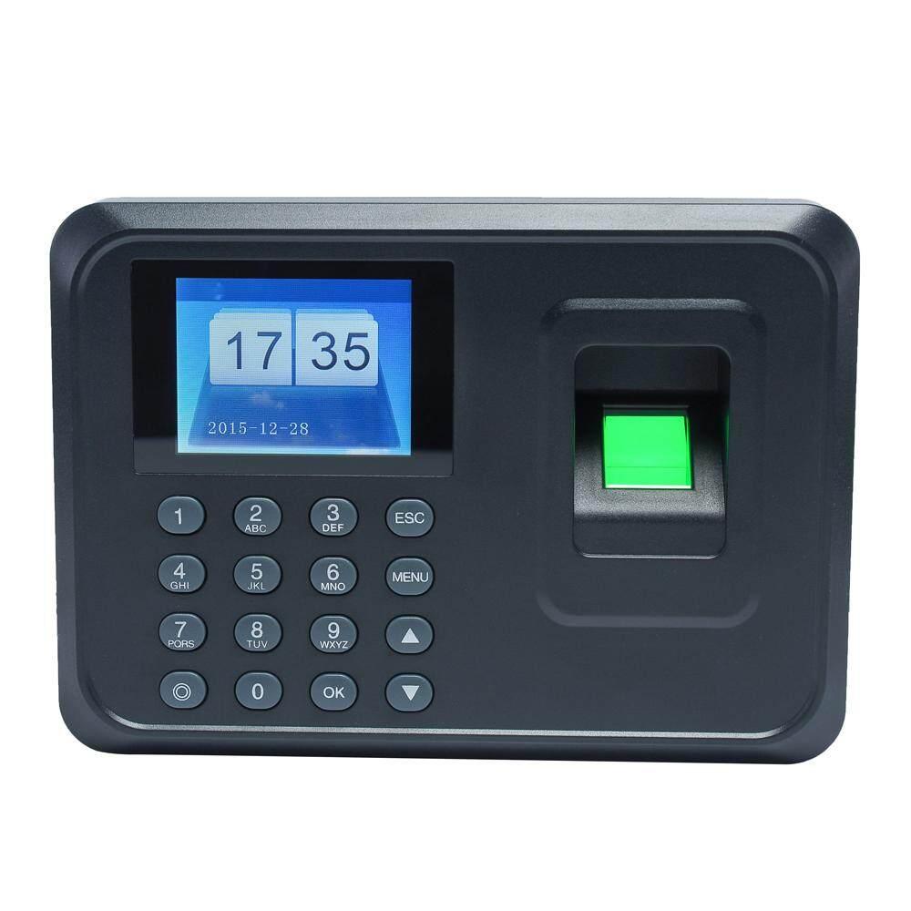 Intelligent Biometric Fingerprint Password Attendance Machine Employee Checking-in Recorder 2.4 inch TFT LCD Screen DC 5V Time Attendance Clock - intl