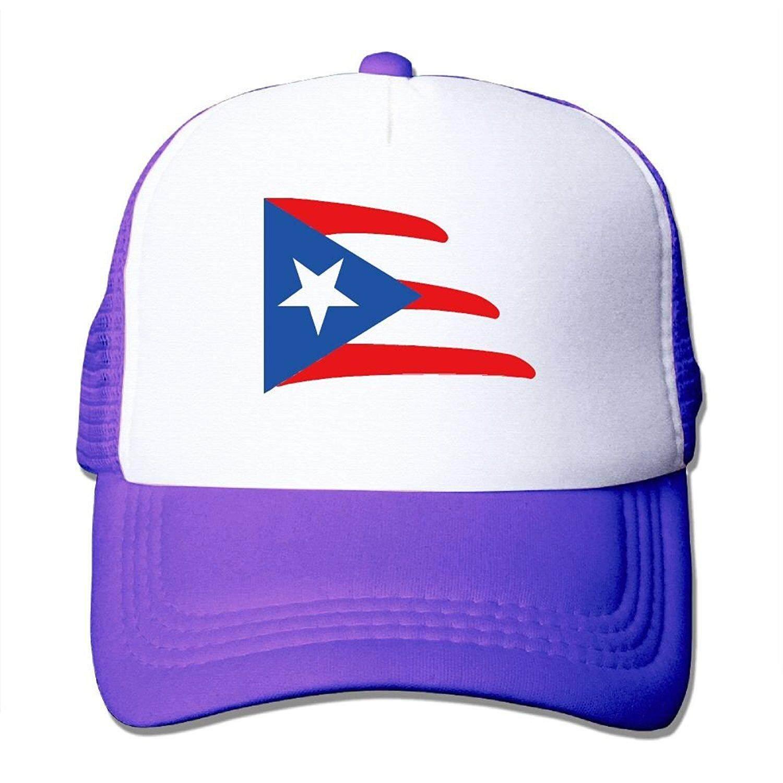 Shinengst Puerto Rico-002-01.PNG Jaring Sopir Truk Topi/Topi Disesuaikan untuk Uniseks Hitam-Internasional