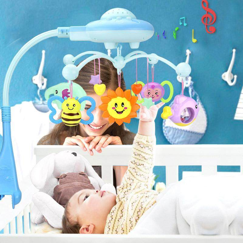 Bayi ABS Crib Seluler Tempat Tidur Lonceng Mobil Kursi Mainan Suara Penahan Lengan Braket Liontin dengan Lingkaran Musik-Internasional