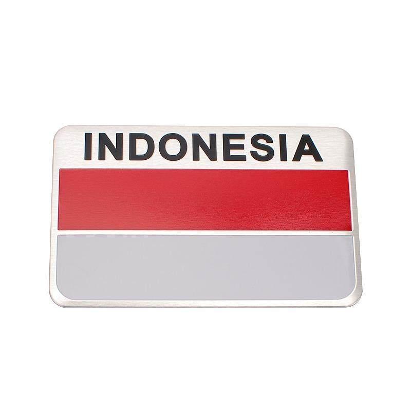 8*5CM Aluminum Alloy Car Badge Accessories Auto Emblem Sticker for Flag of Indonesia for Vespa Honda Dodge Mini cooper Audi Peugeot - intl