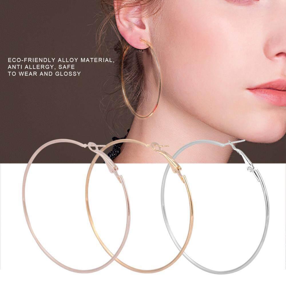 cb77d6e20 3 Pairs/set Fashionable Loop Earring Lady Women Alloy Round Large Hoop Loop  Earrings Ear
