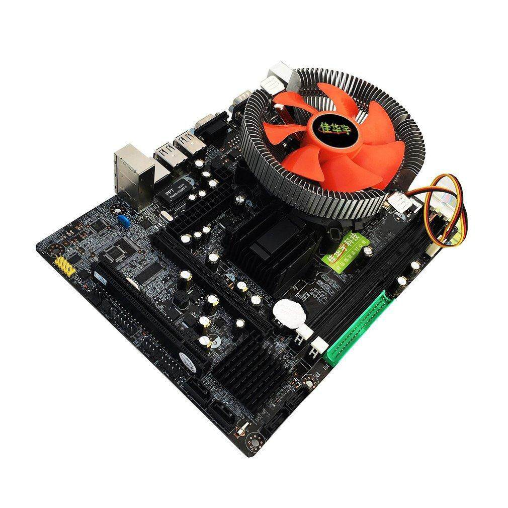 Allwin 945 Desktop PC Main Board Dual-core E5400 2.7G CPU + 2G DDR2 Memory + Mute Fan - intl