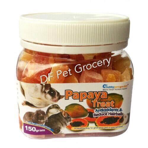 Natural Sugar Glider Papaya Treat With HairBall Control 150g - Small Animals Snack