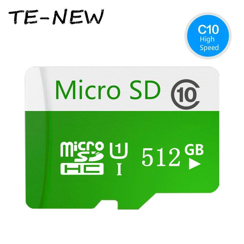 High quality 512GB Class 10 Micro memory SD Card with Adaptor (Green plus white) - intl