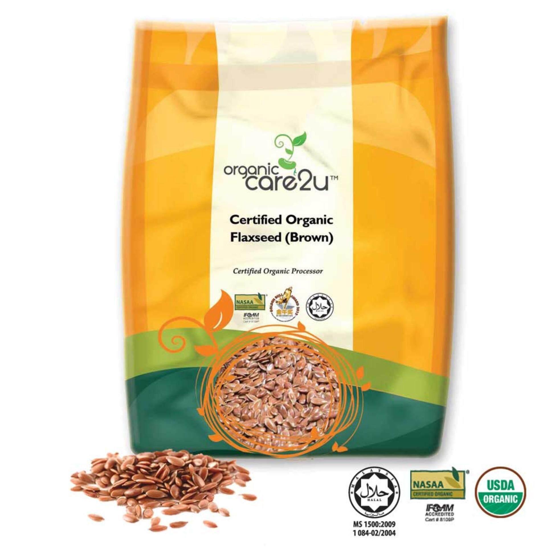 Organic Care2u Organic Flax Seed (brown) (400g)